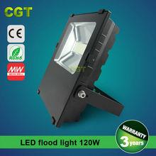 120W LED flood light 8800lm IP65 waterproof 3 years warranty CE Rohs
