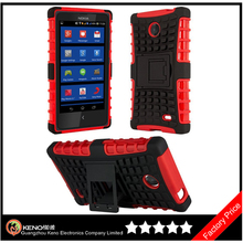 Keno For Nokia X Case Accessories New TPU Silicone Combo Stand Durable Hard Case Cover with Stand
