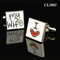 I Love My Wife Wedding Cuff Links