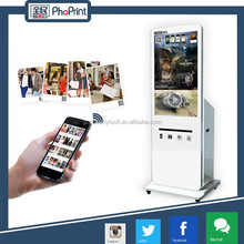 New hot products for wedding party events/big touch screen hire photo printing machine