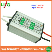 dc12v (4-9)*1w 300ma constant current waterproof ip67 led driver for outdoor led light power supply