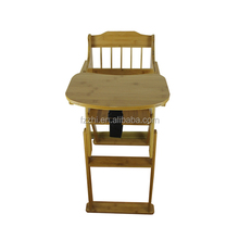 Eco-friendly natural color children bamboo chair and table