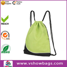 Cheapest price factory polyester drawstring bag ;210D cheap shopping bag promotion gift cinch drawstring backpack