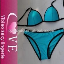 nueva llegada de azul de diseño desgaste de natación para chicas sexy traje de baño