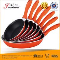 Removable Handle Carbon Steel Enamel Coating Non Stick Fry Pan Set