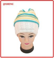 Children handmade striped cheap knit hat