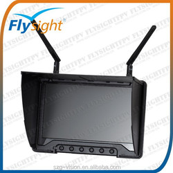 G1745 Flysight black pearl RC801 no blue screen 7 inch 5.8G 32ch hdmi diversity fpv monitor with