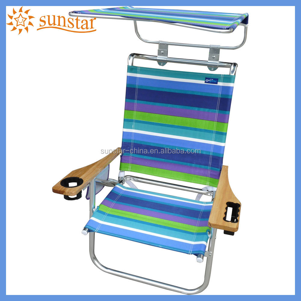 Colorful Folding Beach Chair With Wood Arm Ch1500 Buy Folding Beach Chair C