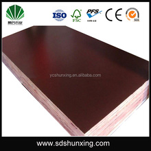 Outdoor construction concrete form Usage film faced plywood