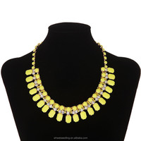 2015 Hand-Made Pretty Resin Rhinestone Necklace jewelry in dubai