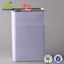 1L, 2L, 3L Metal Engine Oil Machine Oil Container with Srew on Lid and Plastic Handle