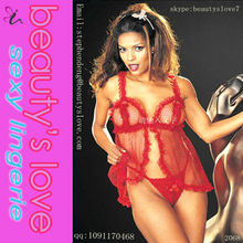 venta al por mayor sexy girls with red amplia malla de muñecas ropa interior