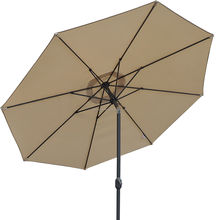 metal outdoor umbrella for cantilever garden automatic advertising patio umbrella