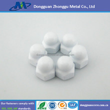 hex head stainless steel white cap nut