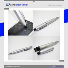 Hot sale usb stick touch pen , cheap usb stick, high quality 4GB usb stick pen shape