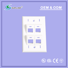 angled face plate 4 port