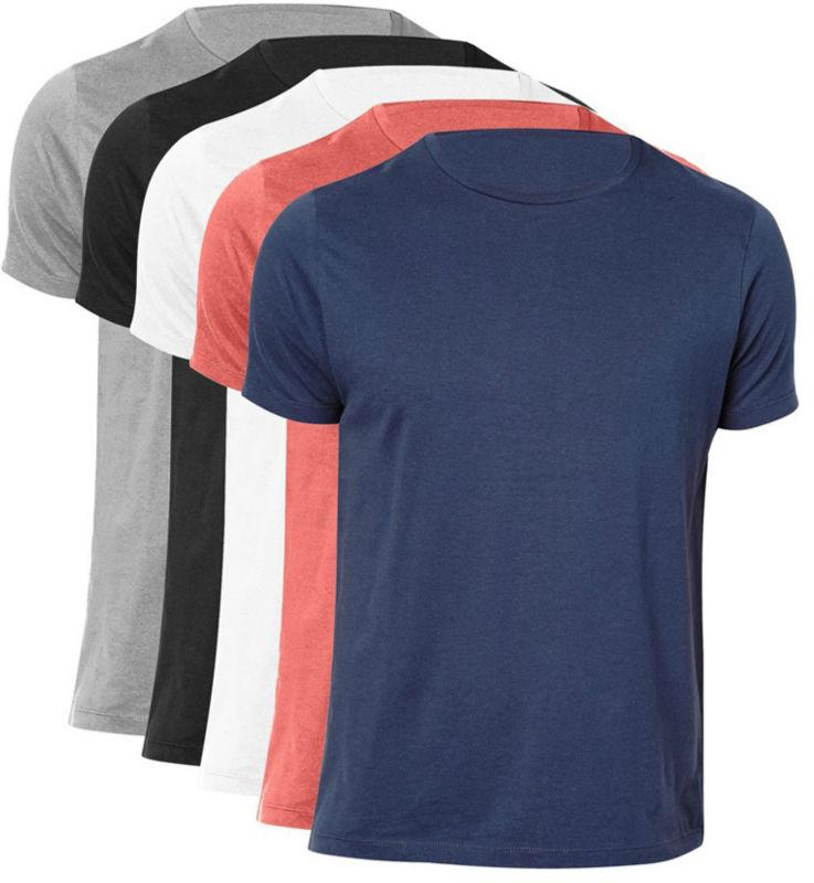 Vente en gros t shirt vierge, encolure ras