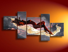 Wall decorative handmade nude woman abstract canvas painting modern