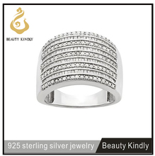 Baguette and round-cut diamond ring 925 sterling silver ring men ring wedding band