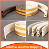 adhesive backed foam rubber for wood door seal weather strip