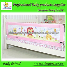 cama de bebé en los carriles de la guardia