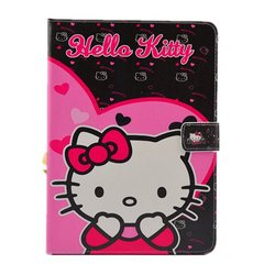 Cartoon Soft Silicone PU Case Cover Cartoon For iPad mini 1 2 Hello Kitty Leather PU Case Cover Stand Case
