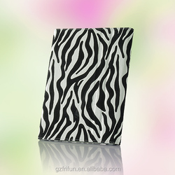 Fashion zebra-patterned PU case for iPad air 2 tablet