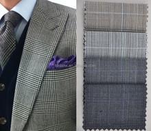 100% italian cashmere serge wool fabrics plaids for coats wool suit fabric wholesale