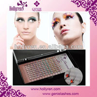 High quality Mink W Eyelash Extension with Color stones