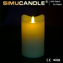 LED Candle with moving wick, with USA and EU Patent