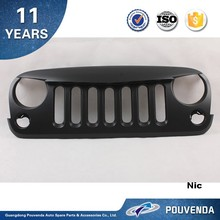 Grille For Jeep Wrangler JK 2007-2014 Black color Front grille Angry bird type 4*4 auto accessoires
