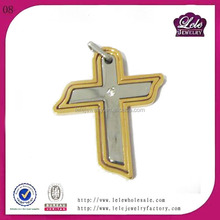 fashion accesories vintage religion cross pendant Design promotional stainless steel religion pendant