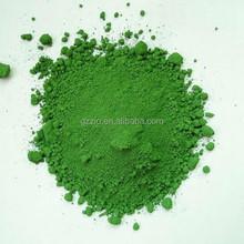 Cosmetic grade green chrome oxide/chrome oxide green pigment.