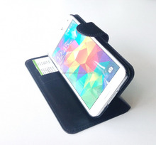 Hot Selling Pu Leather Mobile Phone Stand Flip Case for Samsung Galaxy S5