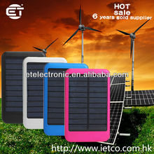 ultra slim aluminium alloy 5000mah mini solar power bank