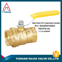 steel handle brass ball valve cw617n forged manufacturer mini electric motorized floating 3 way with abs tap low price
