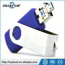 Dual Ports Pendrive 4GB 8GB 16GB 32GB 64GB USB 3.0 Plastic OTG Memory Drive
