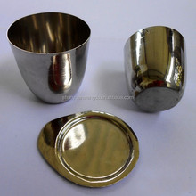 High quality platinum 95%-gold 5% crucibles with lid