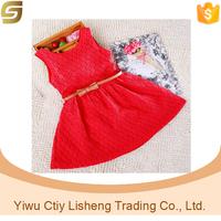 Cute acrylic lace children girl dress wholesale
