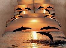 oceanic design 3D printing bedding set/comforter set/bedsheet/bed linen
