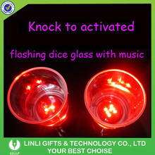 Knock to Flashing Mini LED Drinking Shot Glass With Music, Colorful Light Party Knock to Flashing Drinking Shot Glass For Bar