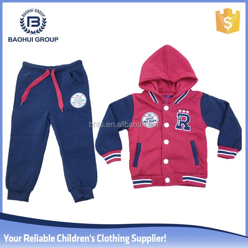Gros chine hiver conception boutique porter toddler vêtements bébé ensembles