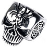 Wholesale Minos Jewelry Ring, 316L Stainless Steel Spider Web Skull Cast Ring