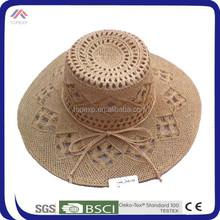 ladies girls straw bucket hat with wide brim bowknot