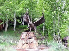 Metal outdoor decoration bronze eagle sculpture