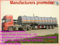 DTA 2/3 Axle plastic- lined steel chemical liquid tank semi trailer,semi-trailer for HCL, NaOH ,NaCIO H2SO4 etc
