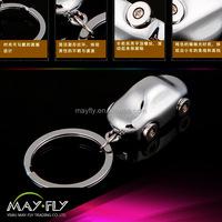 Mini car metal key chain; car key chain hanging ornaments;custom logo key chain