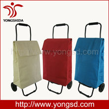 Hot Two Wheels Shopping Trolley with White Jute Bag(YSD-1391)