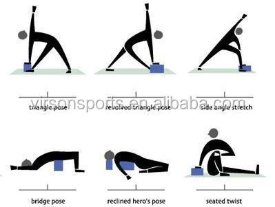 2015 venda quente único eva yoga bloco de espuma de plástico