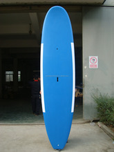 Beautiful round head flat tail white and blue painting sup paddle surfboard
